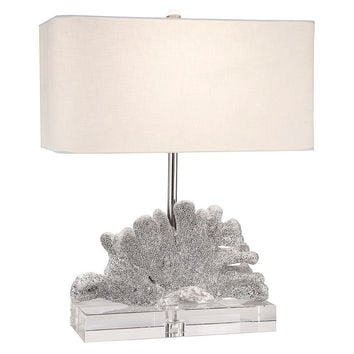 Caspian Table Lamp, Silver, Table Lamps