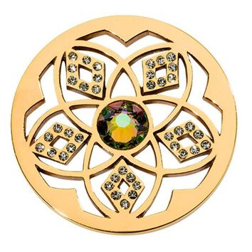 DCCKAB3 Nikki Lissoni Gold Plated 'Charming Flower Coin' C1613GM