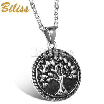 New Tree of Life Pendant Necklace Vintage Bronze Painting Men Women Necklaces Gift Summer Jewelry Necklace 2017
