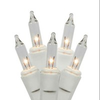 Set of 50 Clear Mini Twinkle Christmas Lights - White Wire - Walmart.com