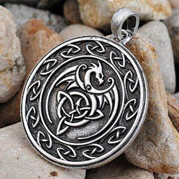 Celtic Dragon Pendant Necklace Unique Chic Dragon Necklace Jewelry