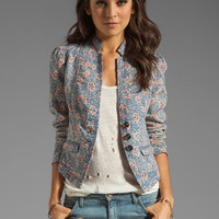Free People Printed Blazer in Blue Combo from REVOLVEclothing.com