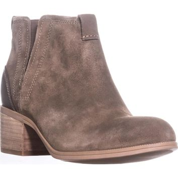 Clarks Maypearl Daisy Ankle Boots, Olive Suede, 11 US / 42.5 EU