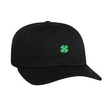 "HUF ""St Pattys Day"" Strapback Dad Hat (Black/Green) Men's Shamrock Polo Cap"