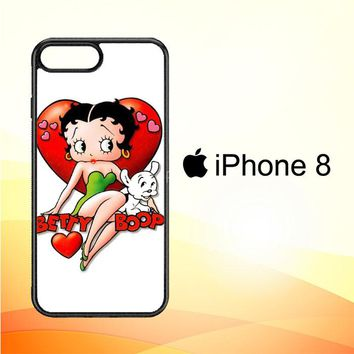 Betty Boop And Pudgy Y0058 iPhone 8 Case