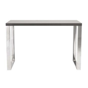 Eurostyle Dillon Office Desk w/ Chromed Steel Legs in Gray Lacquer