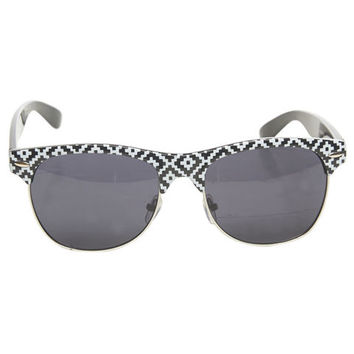 Tribal-Inspired Clubmaster Sunglasses | Wet Seal
