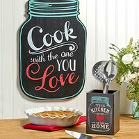 Heart of the Kitchen Mason Jar Accents