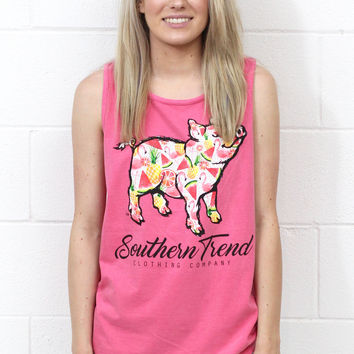 Fruit + Flamingo Proud Pig Tank {Crunchberry}