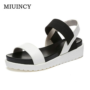 Hot Sale Women Casual Sandals Summer Casual Flat Shoes Peep-toe Roman Sandals Lady Flip Flops Footwear Gladiator Sandalias Mujer