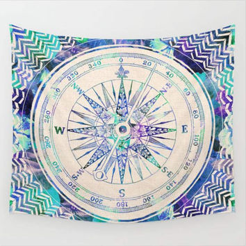 Mandala Compass Boho Wall Hanging Tapestry Boho Home Decor