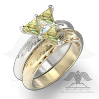 Legend Hyrule Crest Triangle Trillion engagement ring .925 or 14k rose gold or 14k white yellow gold custommade, handmade ***Made to Order