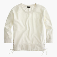 J.Crew Womens Lace-Up Sweatshirt
