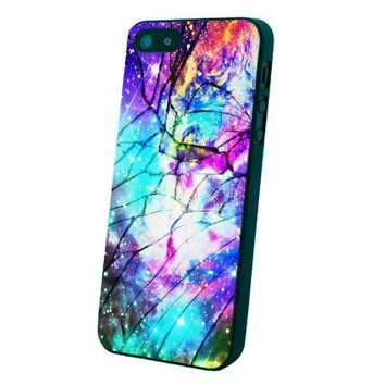 Galaxy Nebula for All Cracked Custom Case for Iphone 5/5s/6/6 Plus (Black iPhone 5/5s)