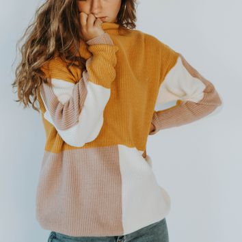 Essie Color Block Sweater