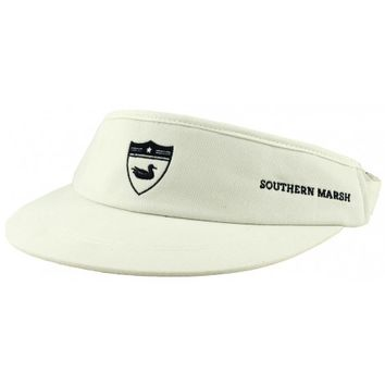 Tour Visor in White with Navy Duck by Southern Marsh