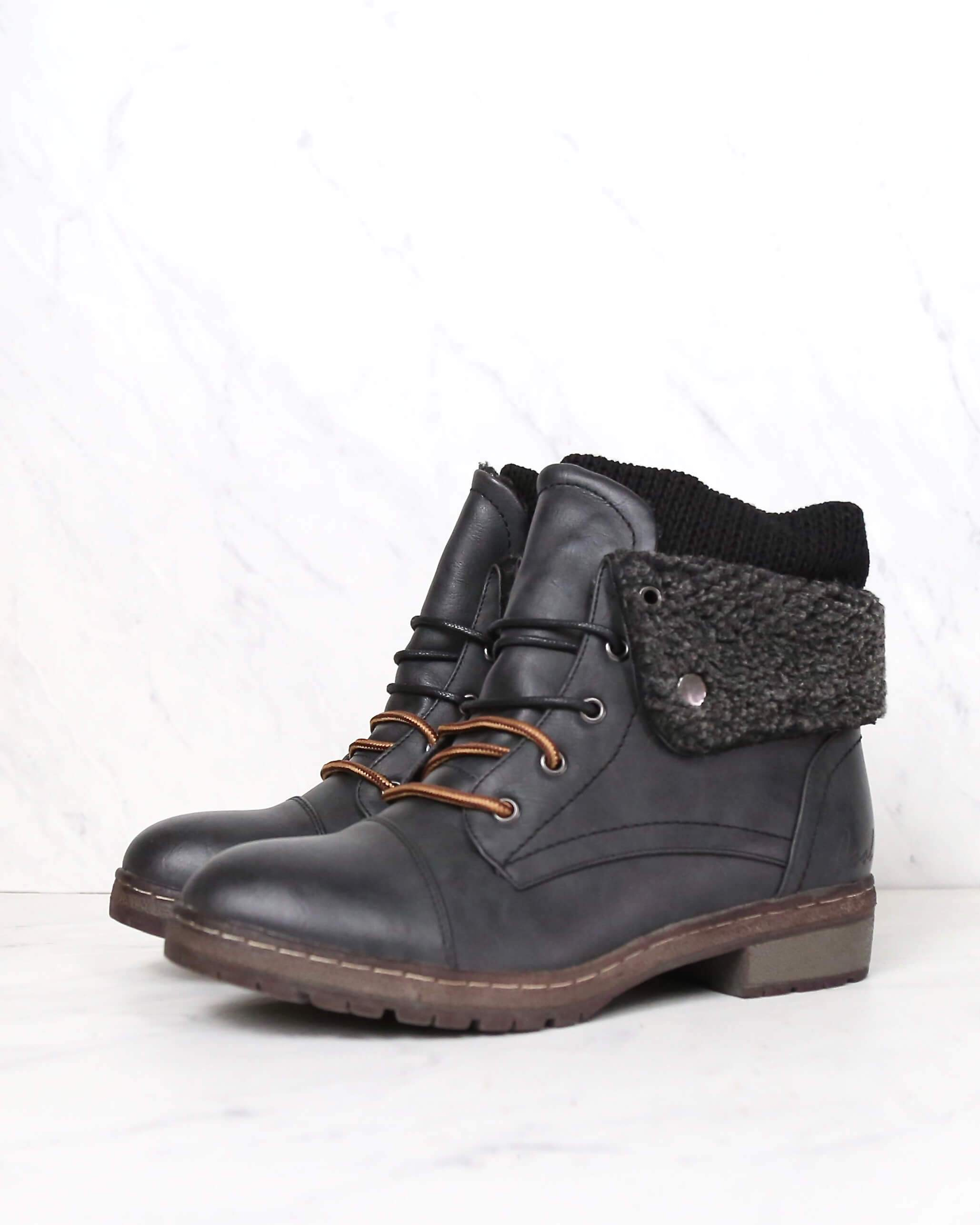 2eb41f9f coolway - bring leather knit sweater cuff ankle boots - more colors