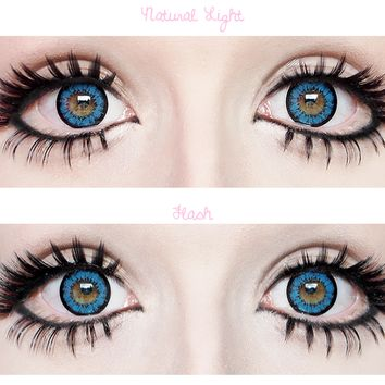 geo super angel blue EyeCandy's Circle Lens Cosmetic Coloured Contacts
