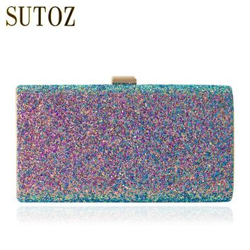 Mermaid Glitter Sequins Evening Bag Clutch Women's Pouch Handbags Messenger Bags Purse Ladies Eve Clutch Wedding Wallets BA149
