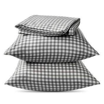 Elite Home Gingham Sheet Set - Red