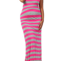 Plus Size Maternity Dresses-Stripes, Camera, Action