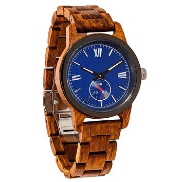 Men's Handcrafted Engraving Ambila Wood Watch - Best Gift Idea!