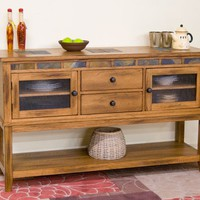 Sunny Designs Dining Room Sedona Server With 2 Drawers 2446RO-D