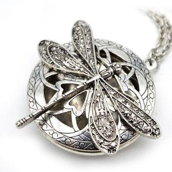 Dragonfly Locket Necklace OIl Diffuser