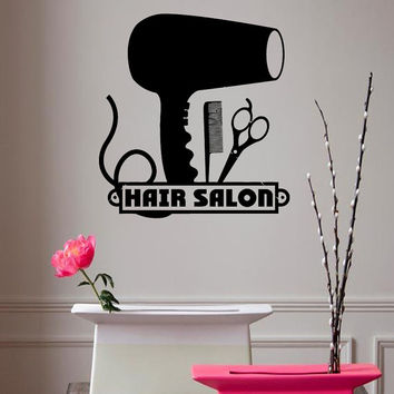 Wall Decals Vinyl Decal Hairdressing Salon Fashion Beauty Salon Home Vinyl Decal Sticker Kids Nursery Baby Room Decor kk68