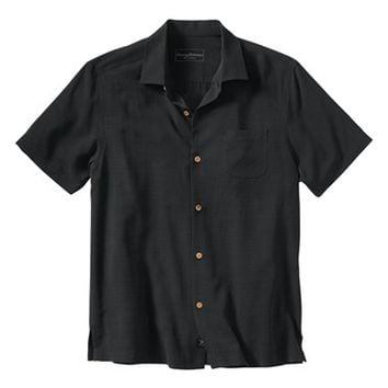 Men's Big & Tall Tommy Bahama 'Legendary Leadfoot Classic' Original Fit Embroidered Silk Camp Shirt,