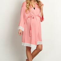 Pink-Lace-Trim-Dressing-Robe