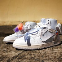 Air Jordan 1 x Off White All White Sneaker Shoe