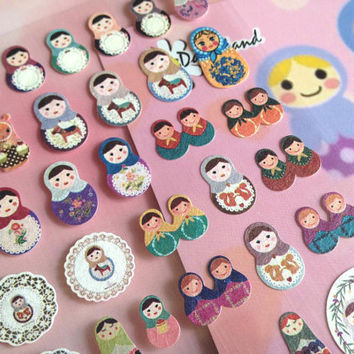 Russian Doll sticker Matryoshka Nesting doll sticker traditional doll sticker folk doll cute doll colorful dolly sticker mini doll sticker