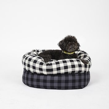 Buffalo Plaid Round Snuggler Bed