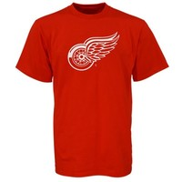 Reebok Henrik Zetterberg Detroit Red Wings Red Name and Number Player T-Shirt