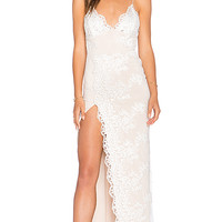 Motel Jay Gown in Ivory & Nude