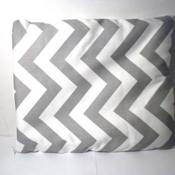 Chevron iPad Case zipper grey chevron ipad by redmorningstudios