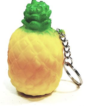 Awsum Toyz Medium Pineapple Keychain Slow Rising Scented Squishy Stress Reducer Toy