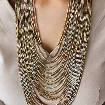 Lot's Of Layers Necklace: Gold