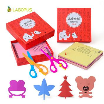 240pcs Lagopus Scrapbook Origami Paper Colored Card DIY Scissors Paper Cutting Folded Craft Paper Gift for Kids