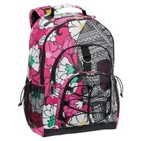 Zio Ziegler Skull And Flower Backpack