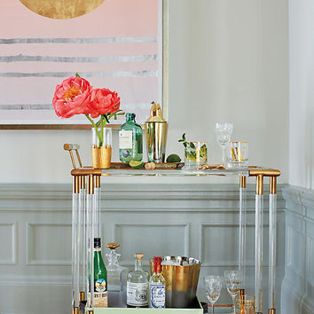 Oscarine Lucite Bar Cart