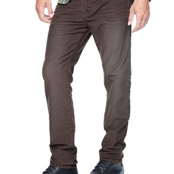 True Religion Dean Tapered With Flap Renegade Corduroy Mens Pant - Coffee Bean