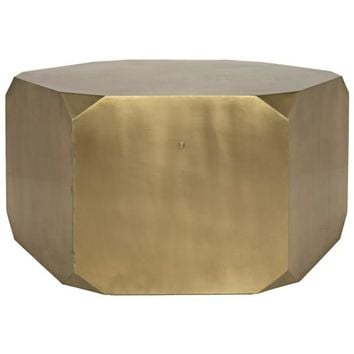 Masone  Coffee Table, Antique Brass