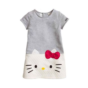 Baby Girls Dresses 2017 Brand Children Dress For Girls Clothes Hello Kitty Princess Dress Christmas Vetement Fille Kids Clothes