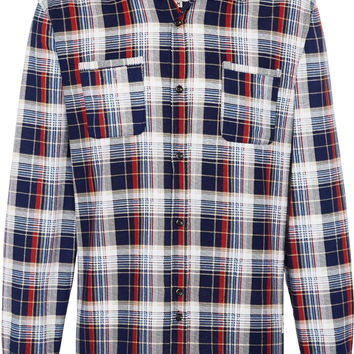 Bellfield Brunswick Long Sleeve Flannel Check Shirt