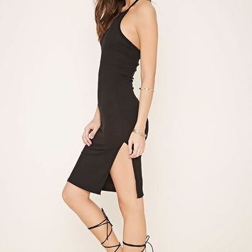Ribbed Halter Dress | Forever 21 - 2000171694