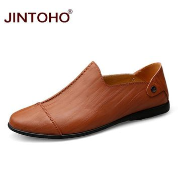 Men Leather Shoes Summer Glitter Casual Leather Male Shoes Slip On Men Loafers Fashion Men