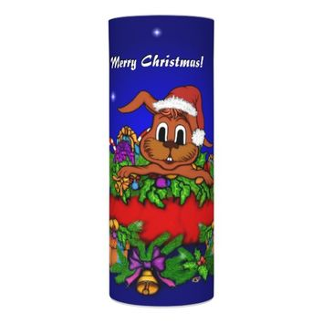 Christmas Rabbit Flameless Candle