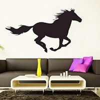 Wall Decal Vinyl Sticker Decals Art Decor Design Bedroom Horse Animal Rider Beautiful Kids Bedroom Dorm Home (r1416)